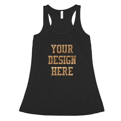 Custom Metallic Racerback Tank