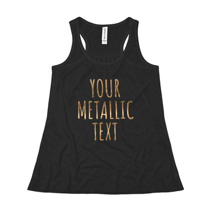 Metallic Racerback Tank for Girls Kids