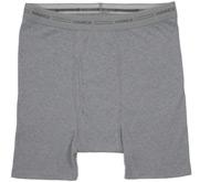 Hanes Heather Grey Boxer Brief Underwear