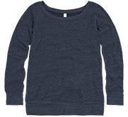 Ladies Triblend Wideneck Sweatshirt