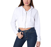 American Apparel Fitted Crop Hoodie