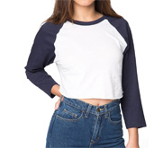 Fitted American Apparel Crop Top T-Shirt