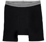 Hanes Black Boxer Brief Underwear
