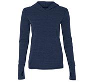 Ladies Triblend Long Sleeved Hooded T-Shirt