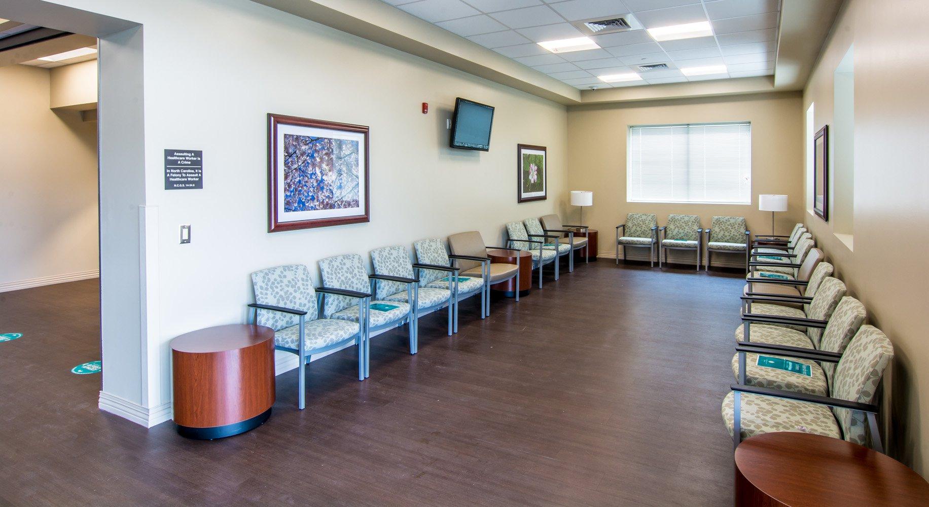Carolinas Healthcare System Blue Ridge waiting area
