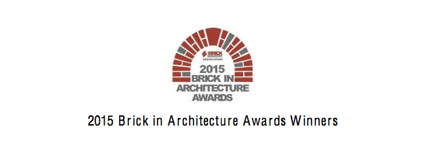 2015 Brick in Architecture Awards Winners