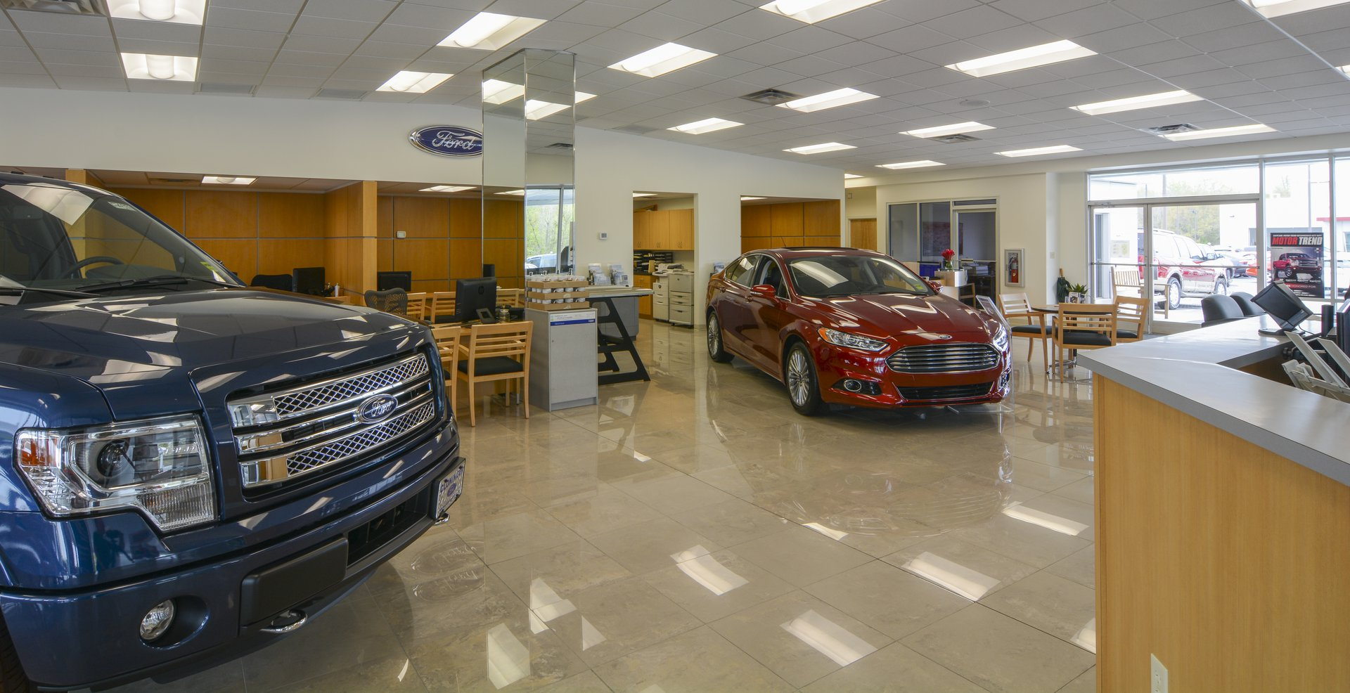 Cloninger Ford Salisbury, NC Showroom