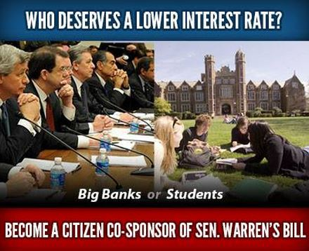 Big banks or students?