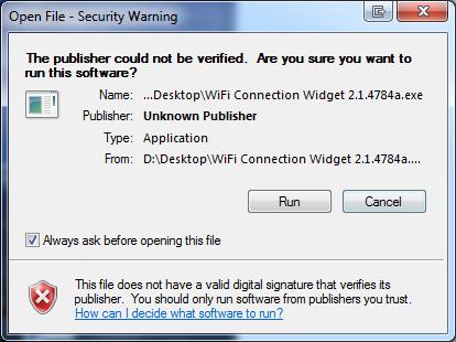 Security warning 665