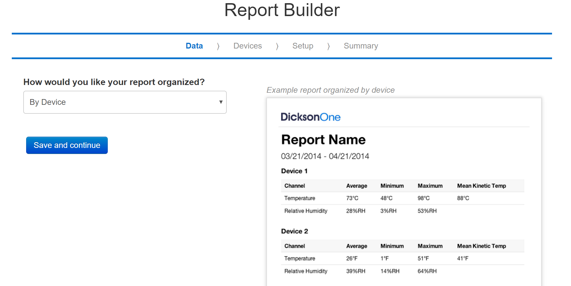 Report builder device 779