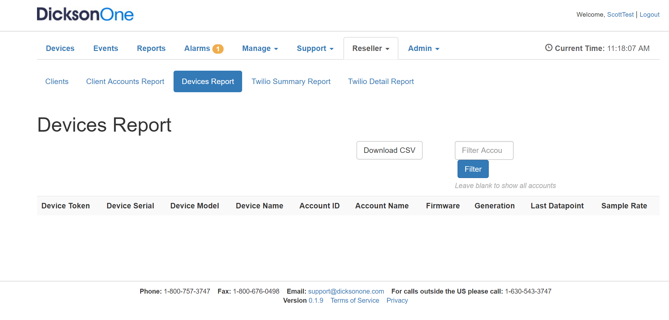 Reseller report devices 946