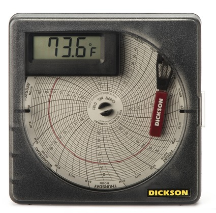 Sl4350 4 101mm temperature chart recorder dickson