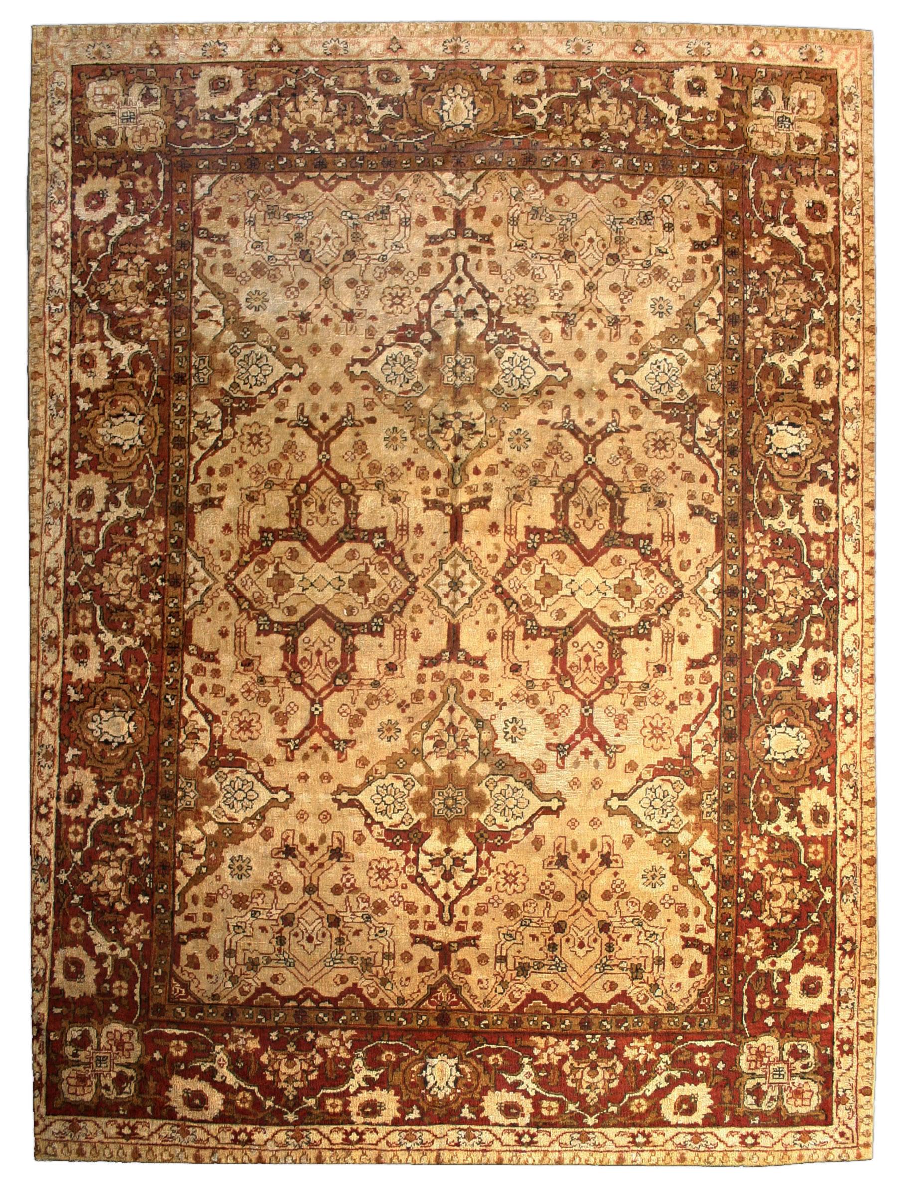 Indian Amritsar Carpet Antique Indian Rug Antique Rug
