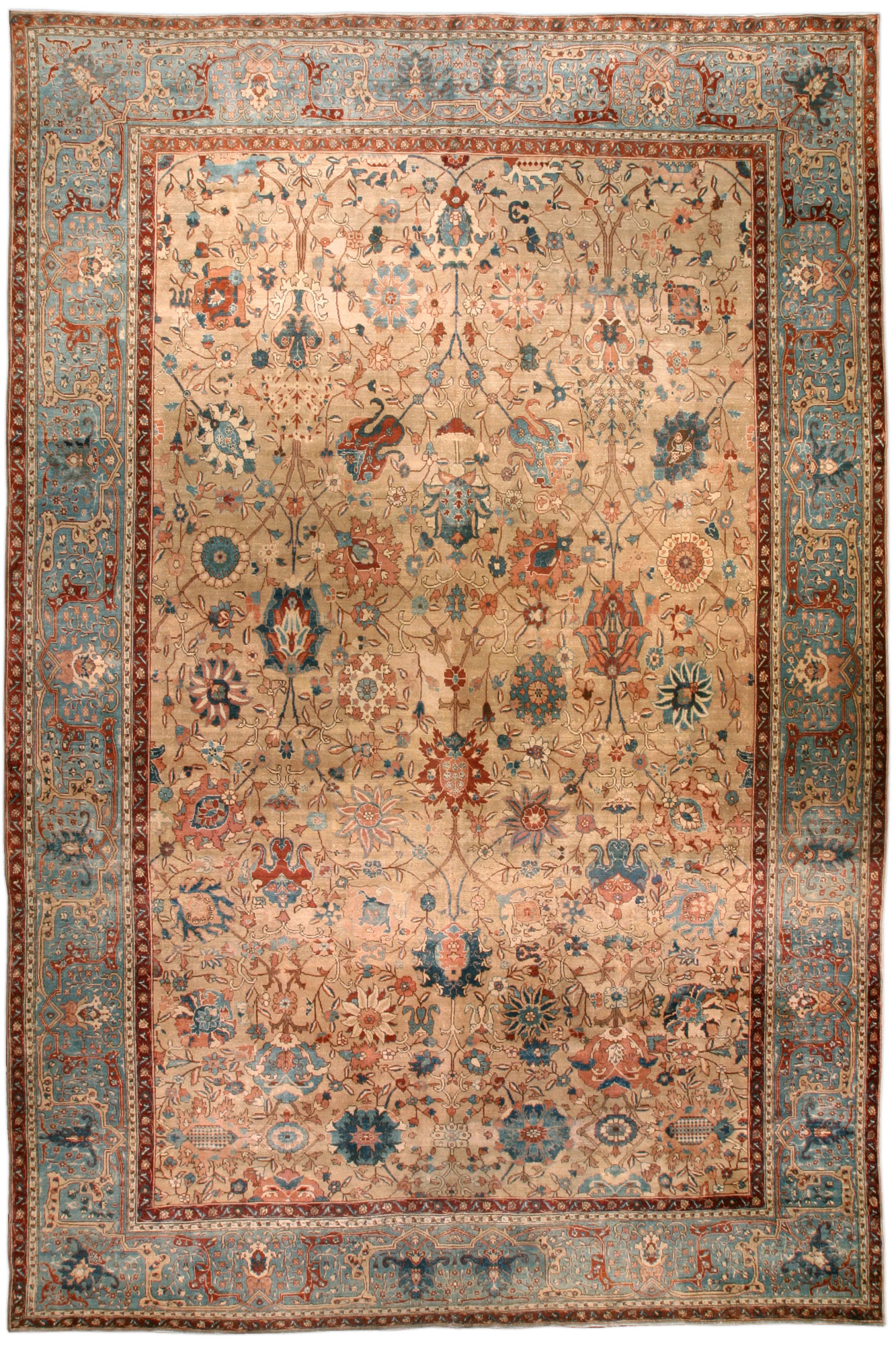 Persian Tabriz Rug Antique Persian Rug Antique Rug