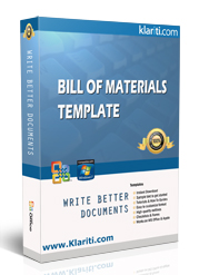 bill of materials templates ms word excel
