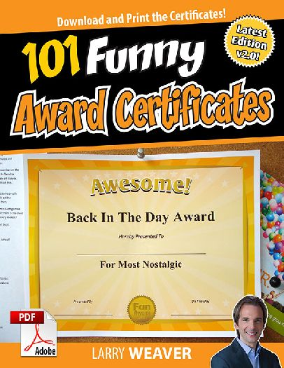 101 funny award certificates  pdf download