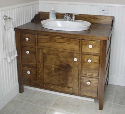 washstand vanity woodworking plans