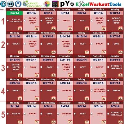 Excel Workout Tools - OHK Webs Logo