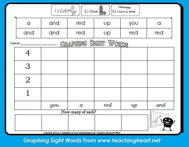 dolch pre primer sight word packet