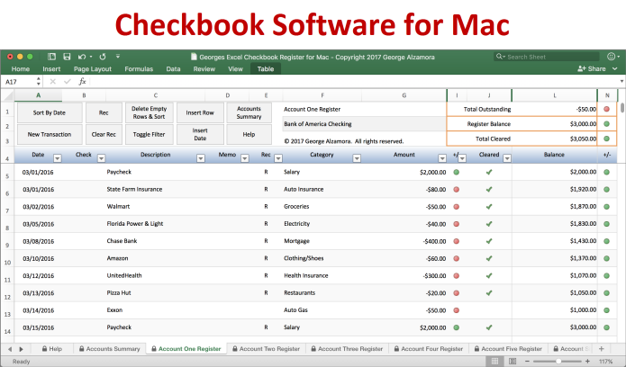 checkbook spreadsheet for mac excel checkbook register for mac