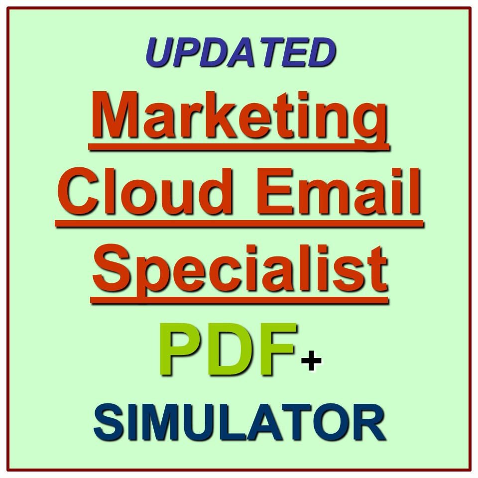 Salesforce Certified Marketing Cloud Email Specialist W19 Exam Test