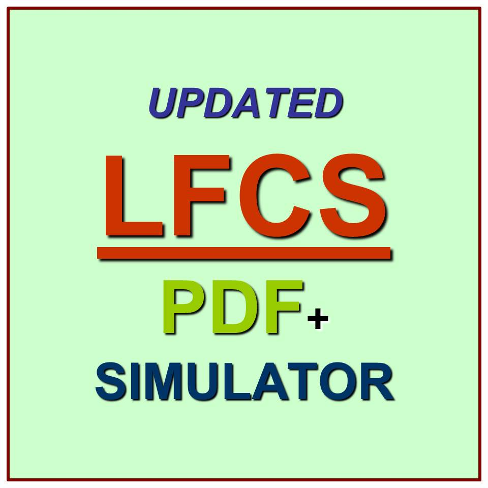 Linux Foundation Certified System Administrator Exam Lfcs Test Qa