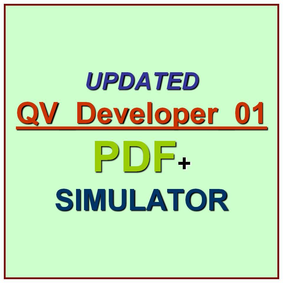 Qlikview Developer Certification Exam Qvdeveloper01 Test Qa Pdf