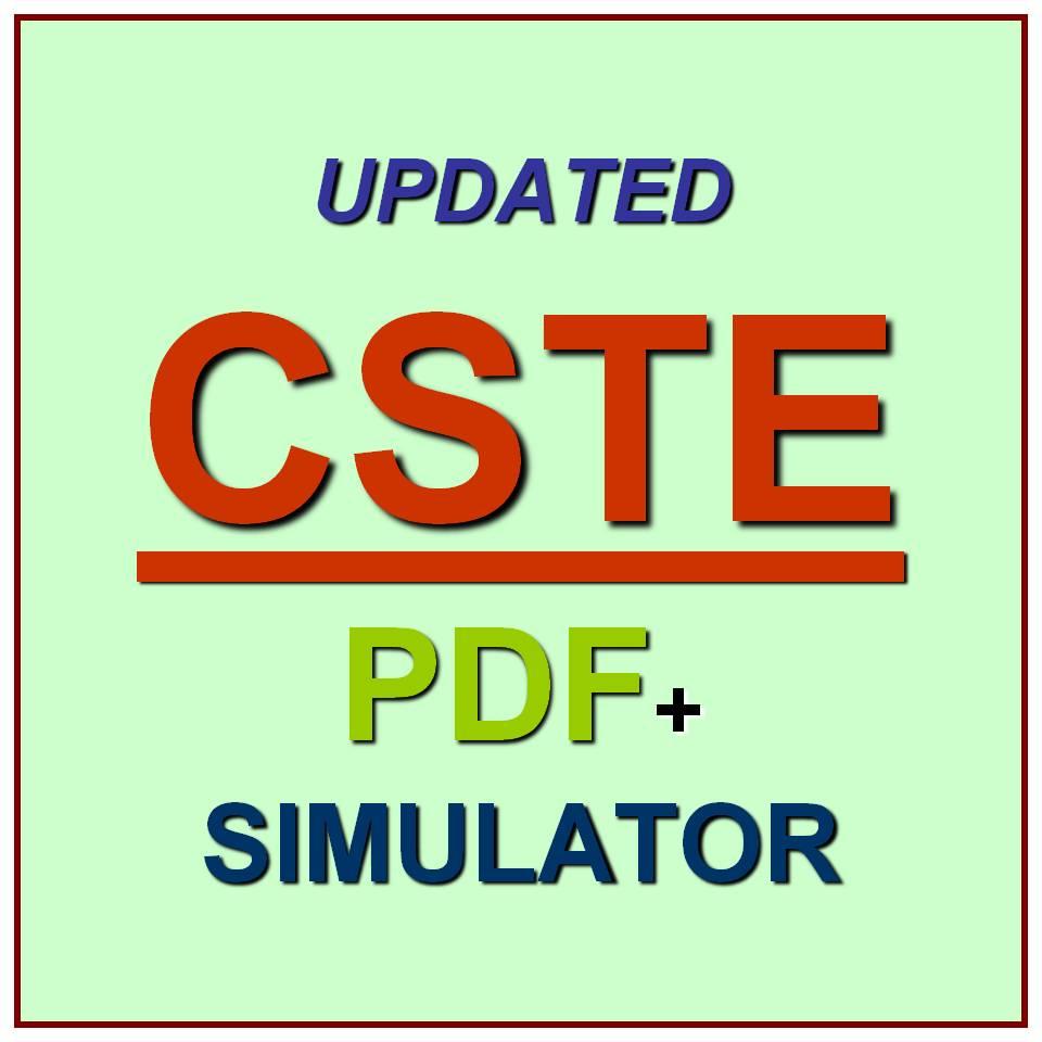 Software Certifications Cste Certified Test Engineer Exam Qa Pdf