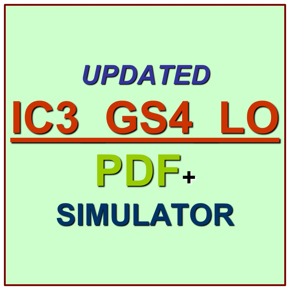 Certiport IC3 Living Online Test IC3_GS4_LO Exam QA SIM