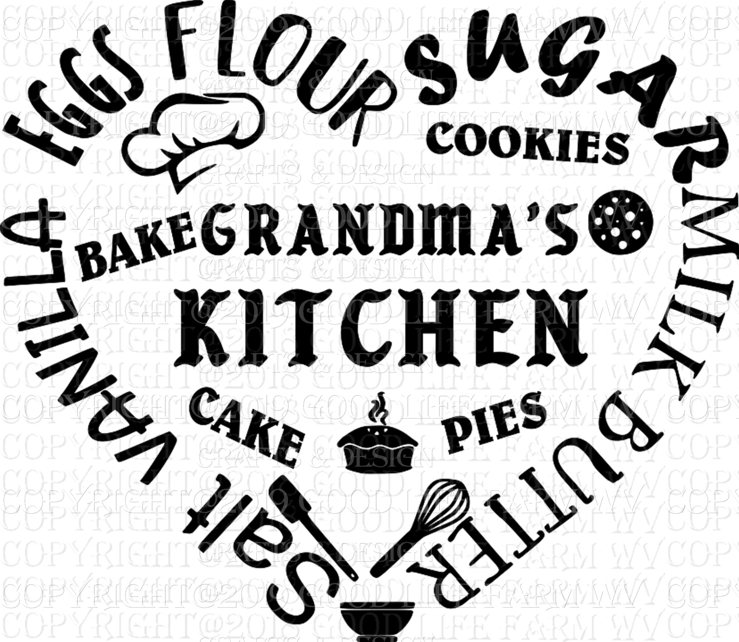 Grandma S Kitchen Svg Png Jpeg Eps Cutting File Instant Download