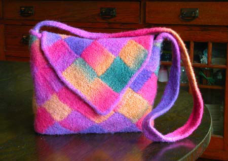 Knitted Felted Entrelac Bag Pattern Collection Pdf