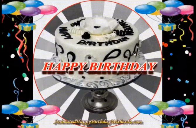 4 Free Download Animated Happy Birthday Wishes 4u Gif