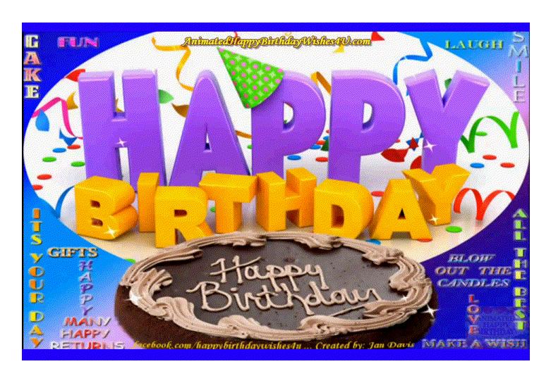 18 Animated Happy Birthday Wishes 4u Gif