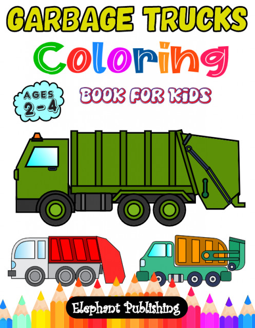 - Digital Download: Garbage Truck Coloring Book For Kids