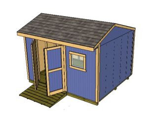 Your 12 L X 10 W Saltbox Shed Plans