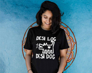 Desi Log Desi Dog T-shirt