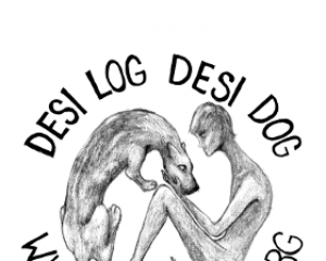 Desi Log Desi Dog Sticker #3