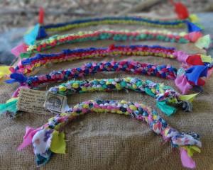 100% Recycled Fabric Dog Rope/Tug Toys