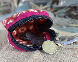 Recycled Fabric Hand-Sewn Coin Purses