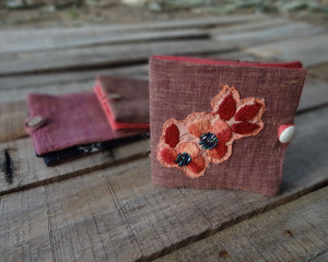 Recycled Fabric Hand-Made Wallets