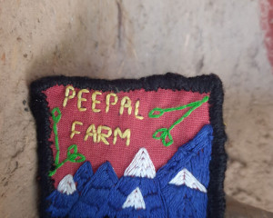 Hand Embroidered Peepal Farm Pin #1