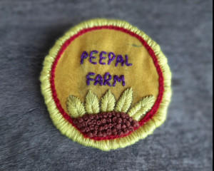 Hand Embroidered Peepal Farm Pin #3