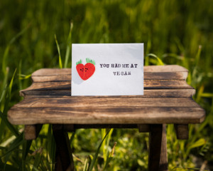 Valentine's day 3D card (You had me at vegan)