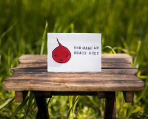 Valentine's day 3D card (You make my heart beet)