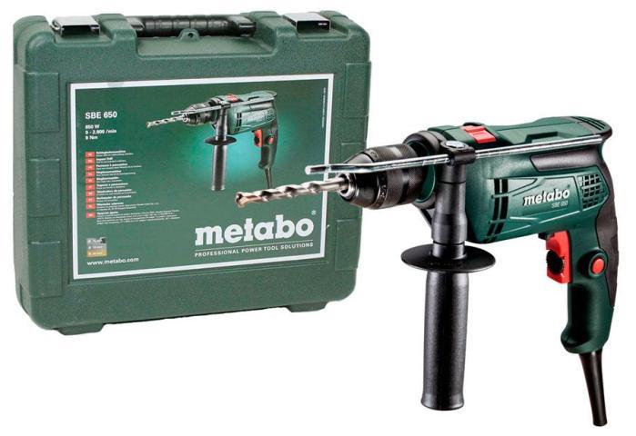 Дриль ударний Metabo SBE 650 у кейсі_0