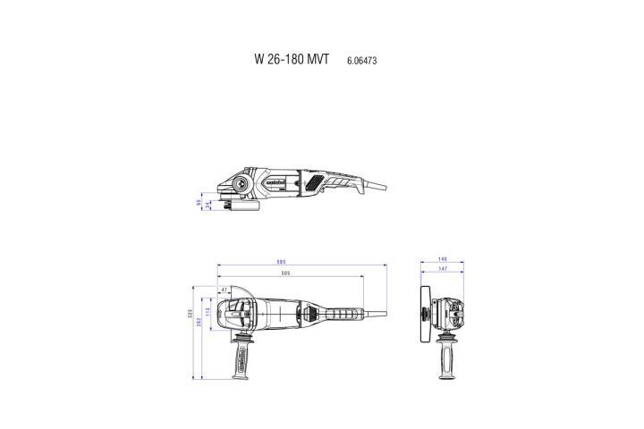 Болгарка Metabo W 26-180 MVT_2
