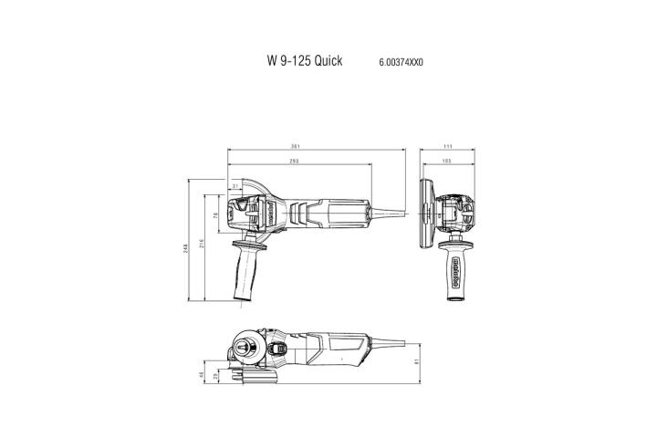 Болгарка Metabo W9-125 Quick_3