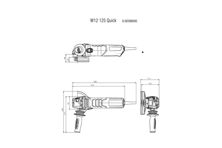 Болгарка Metabo W 13-125 Quick_4