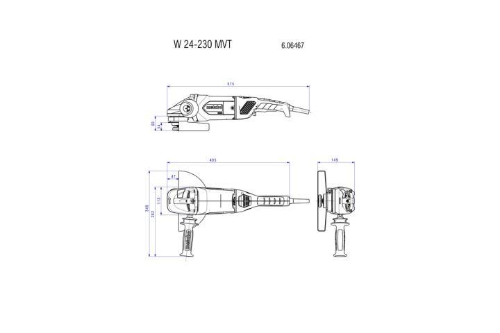 Болгарка Metabo W 24-230 MVT_4