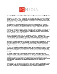 Syc launch press release